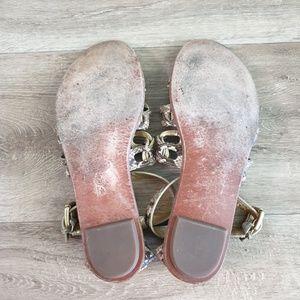 Coach Shoes - COACH Snake Print Gladiator Sandal 9.5